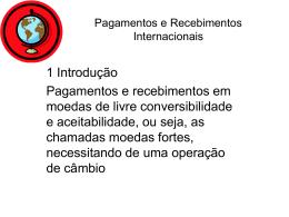 Aula 09 Pagamentos e Recebimentos Internacionais