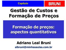 14. Formação de preços: aspectos quantitativos.