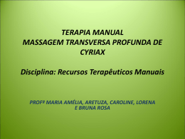 terapia manual massagem transversa profunda de cyriax