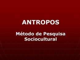 Capacitação Antropológica - Tabelas