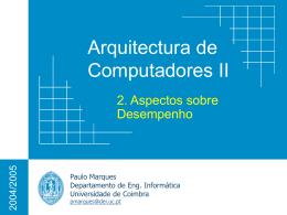 Medição e Desempenho - Universidade de Coimbra