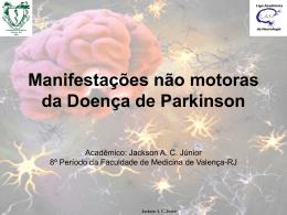 Manifestações não motoras da Doença de Parkinson