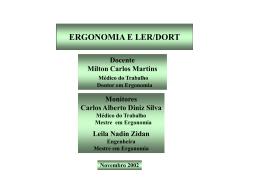 Apresentação do Prof. Dr. Milton Carlos Martins