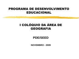 programa de desenvolvimento educacional