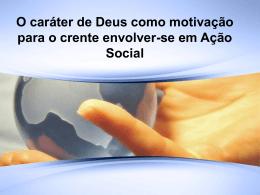 Motivacao para a Acao Social Crista