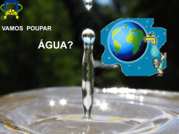 Vamos poupar água?