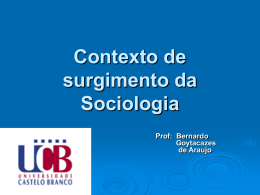 Sociologia - Universidade Castelo Branco