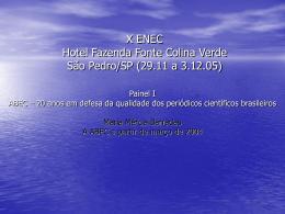 X ENEC Hotel Fazenda Fonte Colina Verde São Pedro/SP