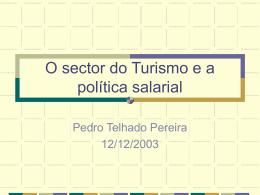 O sector do Turismo e a política salarial
