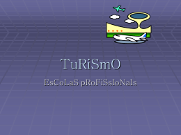 Turismo - Programa Prof2000