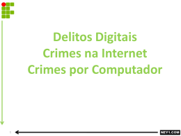 delitos digitais crimes na internet crimes por computador