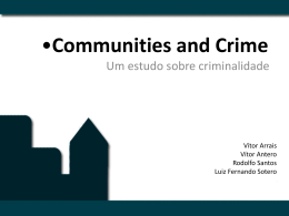 Communities and Crime