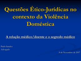 Questões Ético-Jurídicas no contexto da