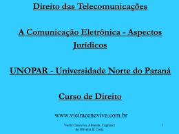 """Palestra """"A Comunicação Eletrônica"""