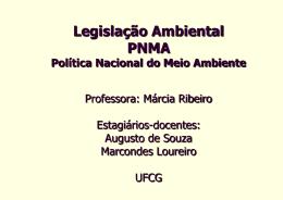 Legislação Ambiental Brasileira - Área de Engenharia de Recursos