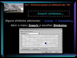 A17 – Primeiros passos nas TIC