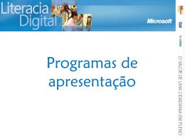 Programas de apresentação