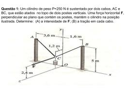 Exercícios de Estática Cap 1 e 2