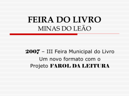 FEIRA DO LIVRO MINAS DO LEÃO - fórum gaúcho de bibliotecas