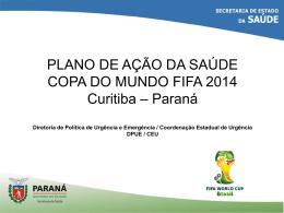Plano de ação da Saúde - Copa do Mundo FIFA 2014