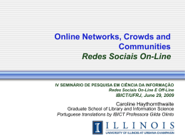 Redes Online - Ideals - University of Illinois at Urbana