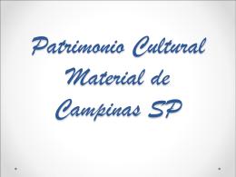 PATRIMÔNIO CULTURAL CAMPINAS 3ºB