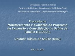 Avaliação das UBS