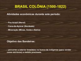 BRASIL COLÔNIA (1500