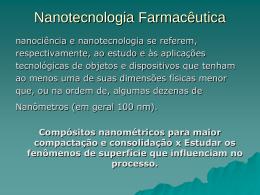 Aula Nanotecnologia Farmacêutica - TFA - 2009