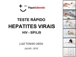 Teste rápido - Hepatites Virais