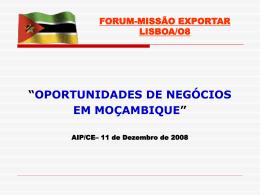 Oportunidades de Negócios em Moçambique