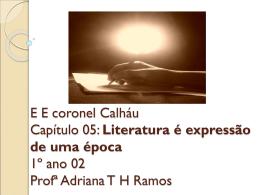 Literatura - ee coronel calháu