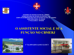 Assistente Social no CBMERJ-Ten Gleicy