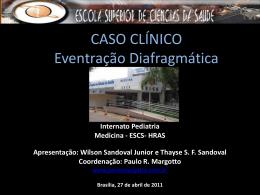 Caso Clinico: Eventração diafragmática