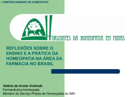 Breve histórico da Farmácia - Serviço Phýsis de Homeopatia