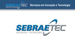 Anexo V – Sebraetec slide padrão para projetos de