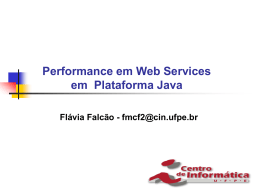 Performance em web services na plataforma java