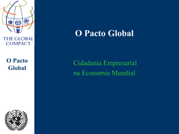 "Pacto Global - ApresentaÁ""o em Power Point"