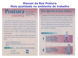Manual da Boa Postura - Hospital Dona Helena