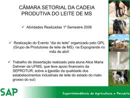 CÂMARA SETORIAL DA CADEIA PRODUTIVA DO LEITE DE MS