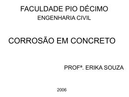 CORROSÃO EM CONCRETO