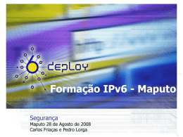 Firewall - Formação IPv6