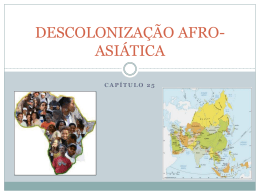 DESCOLONIZAÇÃO AFRO