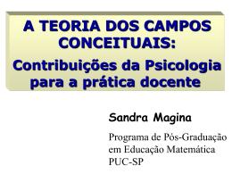 A TEORIA DOS CAMPOS CONCEITUAIS: Contribuições da