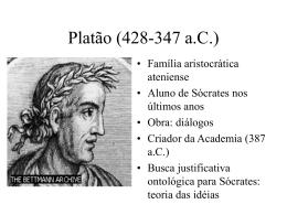 Platão (428/7-347 a.C.)