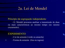 2a. Lei de Mendel