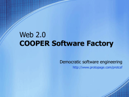 COOPER Software Factory