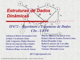 Estruturas de Dados Dinâmicas