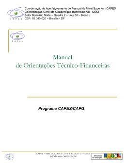 Orientações Técnico-Financeiras