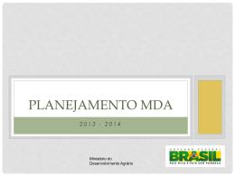 estrutura planejamento mda - Sistemas MDA